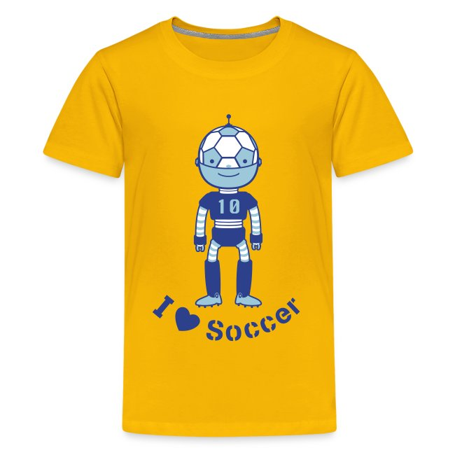 3054277646e Sports Soccer Robot | Kids' Premium T-Shirt