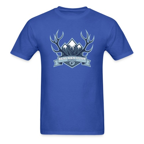 B3 REAL MEN HUNT Blue Tee - Men's T-Shirt