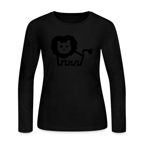 women's longsleeve black lion tee - Women's Long Sleeve Jersey T-Shirt