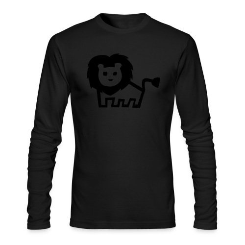men's longsleeve black lion tee - Men's Long Sleeve T-Shirt by Next Level