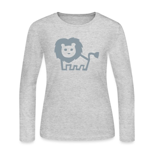 women's longsleeve grey lion tee - Women's Long Sleeve Jersey T-Shirt