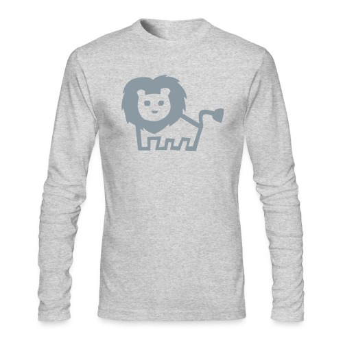 men's longsleeve grey lion tee - Men's Long Sleeve T-Shirt by Next Level