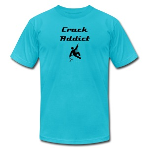 Crack Addict (blk letters) - Men's T-Shirt by American Apparel