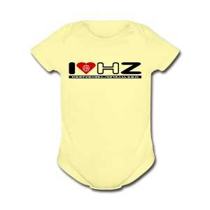 I LOVE HZ baby one piece - Short Sleeve Baby Bodysuit