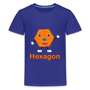 Shapes Hexagon - Kids' Premium T-Shirt