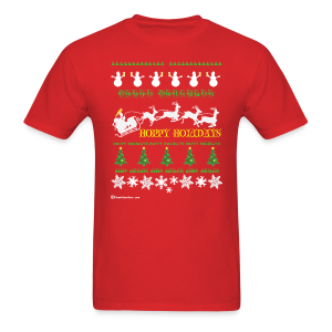 Ugly Xmas Beer Sweater Men's T-Shirt - Men's T-Shirt