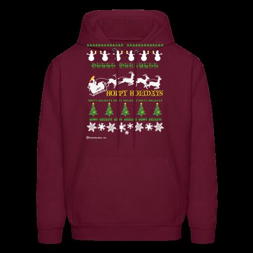 Ugly Xmas Beer Sweater Men's Hooded Sweatshirt - Men's Hoodie