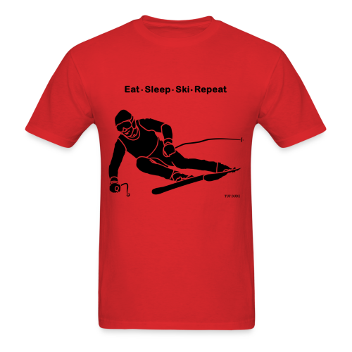 Eat Sleep Ski Repeat - Men's T-Shirt