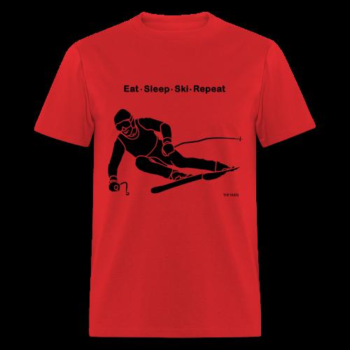Eat Sleep Ski Repeat - Men's T-Shirt