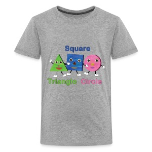 Shapes Trio With Triangle, Square, Circle - Kids' Premium T-Shirt