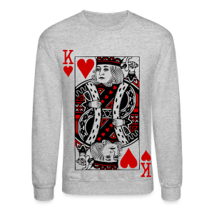Heart Of KING crew - Crewneck Sweatshirt