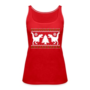 Dino Christmas - Women's Premium Tank Top