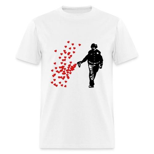 Spray love not Hate - Men's T-Shirt