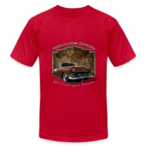 Mens Brown T-shirt | 55 Chevy | Classic American Automotive - Men's T-Shirt by American Apparel