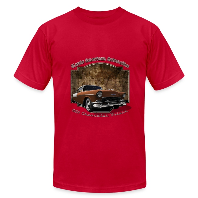 Mens Brown T-shirt | 55 Chevy | Classic American Automotive