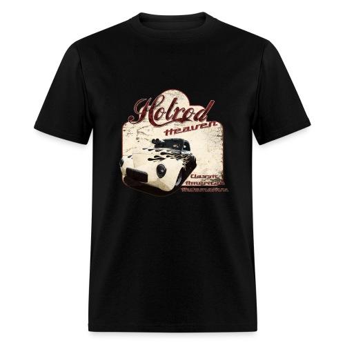 Mens Black T-shirt | Hotrod Heaven | Classic American Automotive - Men's T-Shirt