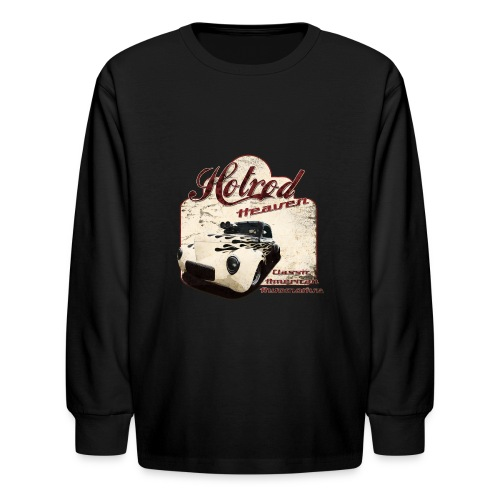Kids Longsleeve T-shirt | Hotrod Heaven | Classic American Automotive - Kids' Long Sleeve T-Shirt