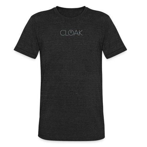 Gray metallic Cloak logo t-shirt - Unisex Tri-Blend T-Shirt