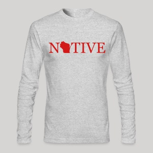 Wisconsin Native - Men's Long Sleeve T-Shirt by Next Level