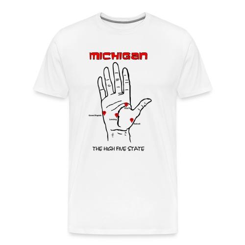 Michigan Hand Map Premium T-Shirt - Men's Premium T-Shirt