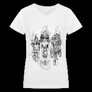 Women's T-Shirts ~ Women's V-Neck T-Shirt ~ Almsivi - Ladies
