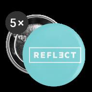 Buttons ~ Small Buttons ~ REFLECT Buttons - Aqua