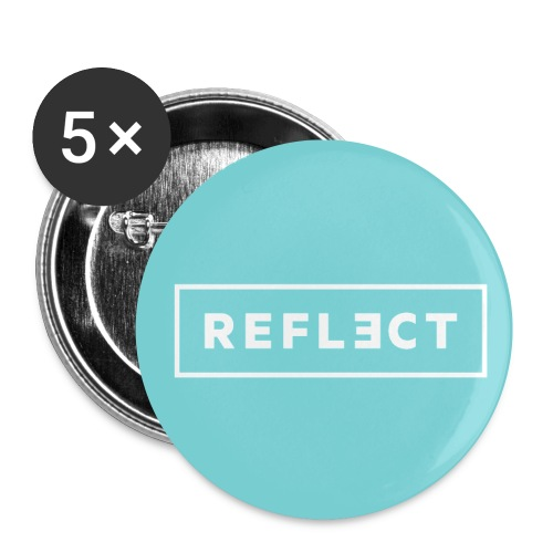 REFLECT Buttons - Aqua - Small Buttons