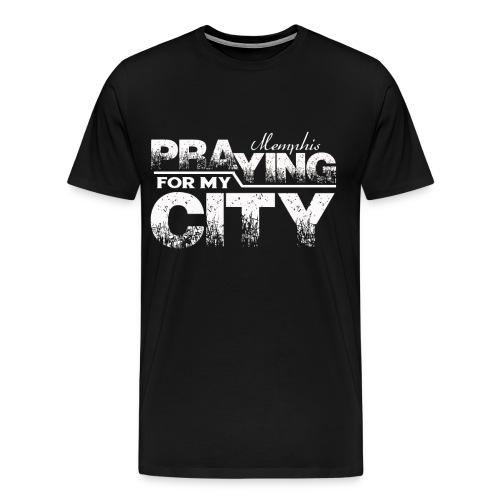 Pray City-Memphis (Prayer on Back)  - Men's Premium T-Shirt