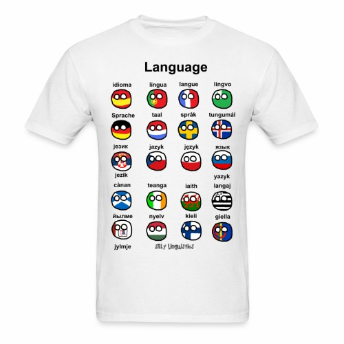 Languages (European version) - Men's T-Shirt