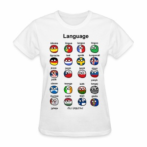 Languages (European version) - Women's T-Shirt