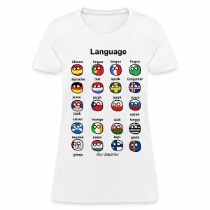 Languages (European version) - Women's T-Shirt
