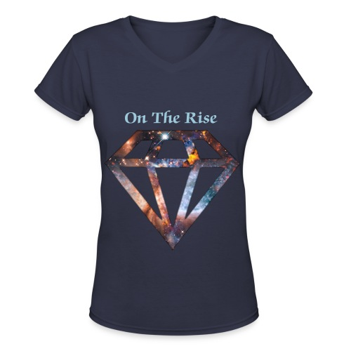 On The Rise Galaxy Diamond Women Shirt - Women's V-Neck T-Shirt