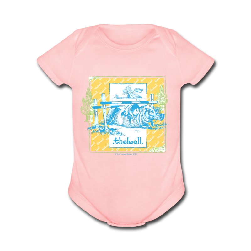 PonyFall blue Thelwell - Short Sleeve Baby Bodysuit