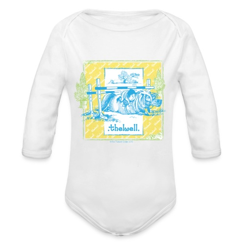 PonyFall blue Thelwell - Long Sleeve Baby Bodysuit