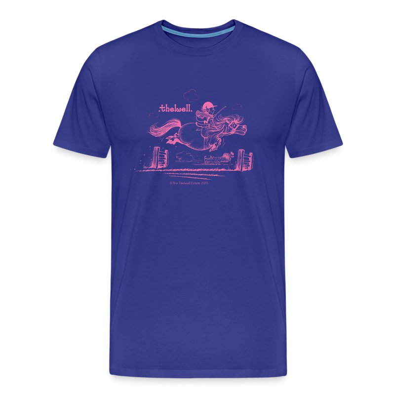 PonyJump Pink Thelwell  - Men's Premium T-Shirt