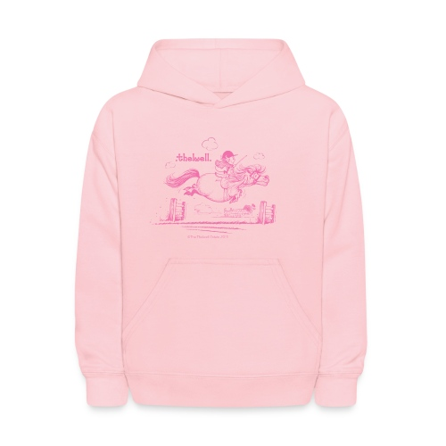 PonyJump Pink Thelwell  - Kids' Hoodie