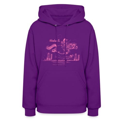 PonyJump Pink Thelwell  - Women's Hoodie