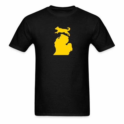 Bark Michigan Husky - Michigan Tech Colors - Men's T-Shirt