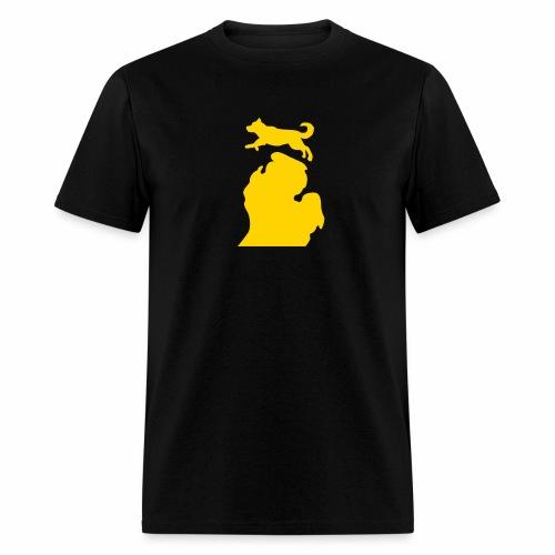 Bark Michigan Husky - Michigan Tech Colors - Men's T-Shirt