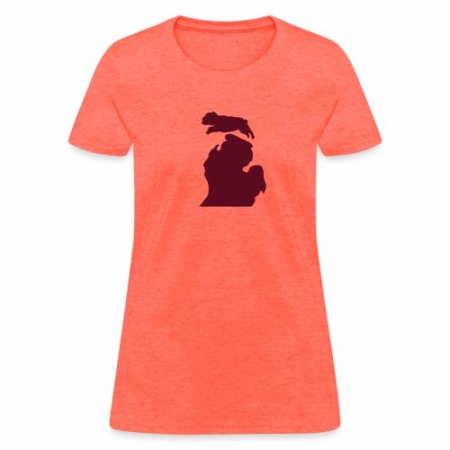 Bark Michigan Bulldog womens - Ferris State colors - Women's T-Shirt