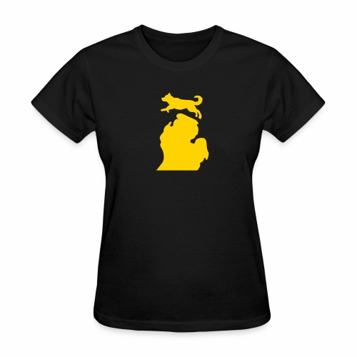 Bark Michigan Husky womens - Michigan Tech Colors - Women's T-Shirt