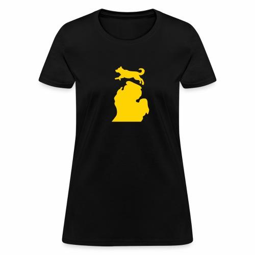 Bark Michigan Husky womens - Michigan Tech Colors - Women's T-Shirt