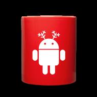Mugs & Drinkware ~ Full Color Mug ~ merry christmas santa claus hat android