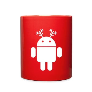 merry christmas santa claus hat android - Full Color Mug