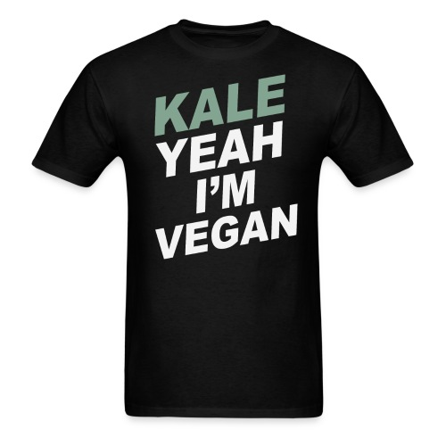 Kale Yeah I'm Vegan tee - Men's T-Shirt