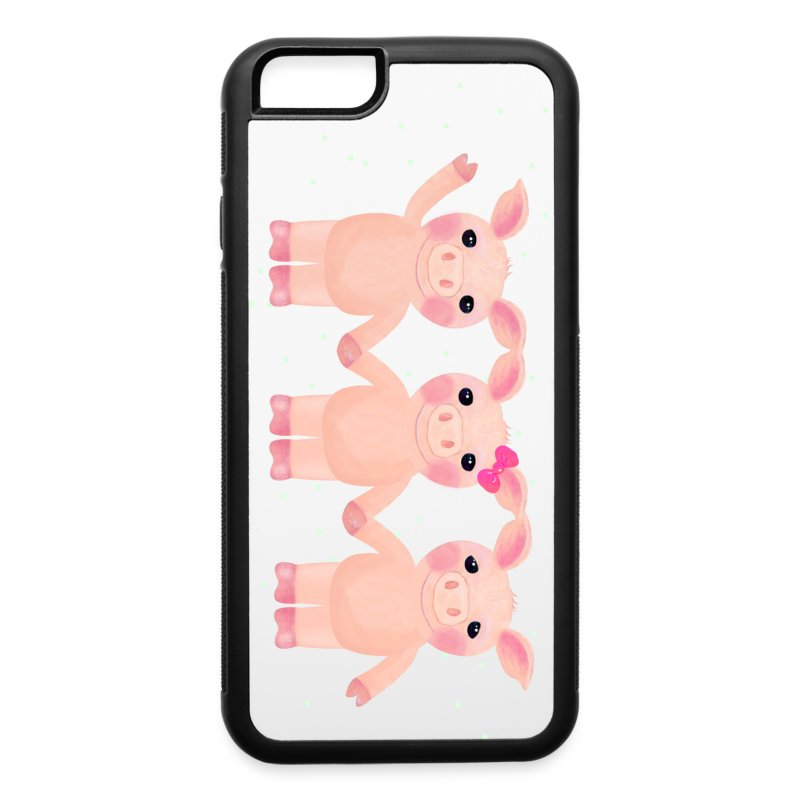 iPhone 6 Three Pigs Phone Case - iPhone 6/6s Rubber Case