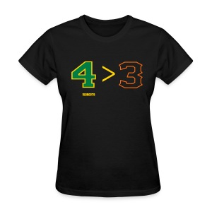 4 is greater than 3 - Women's T-Shirt
