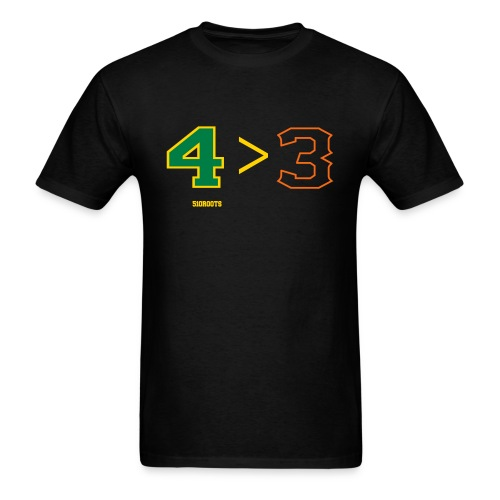 4 is greater than 3 - Men's T-Shirt