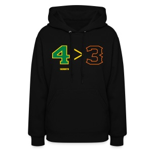 4 is greater than 3 - Women's Hoodie