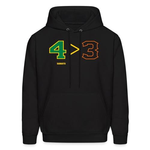 4 is greater than 3 - Men's Hoodie